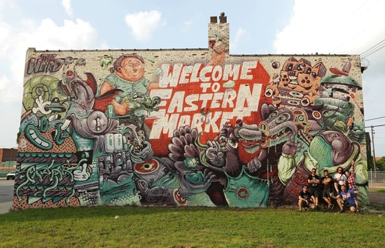 """Welcome To Eastern Market"" by Weird Crew in Detroit"