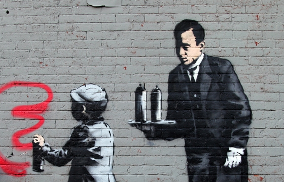"Banksy ""Better Out Than In&"