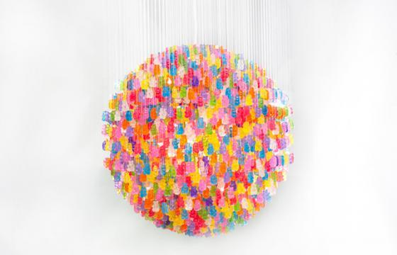 Gummy Bear Chandelier by Kevin Champeny