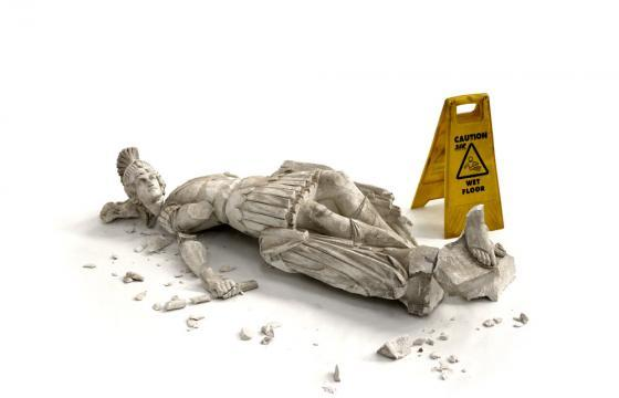 "Banksy ""Fallen Soldier"" Sculpture"