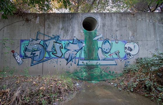 Gutter graffiti by Gyer
