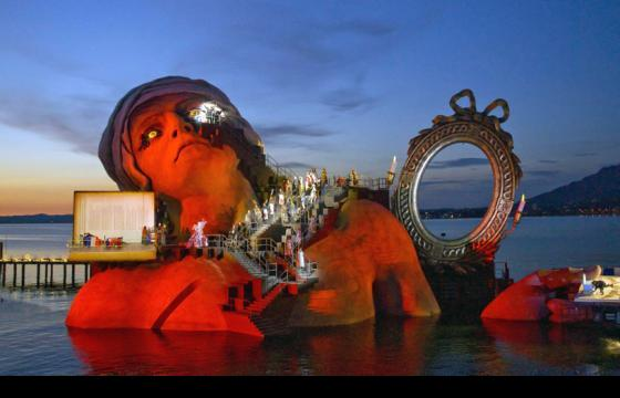 The Floating Opera Set in Bregenz, Austria