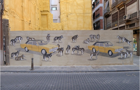 Hyuro x Escif in Valencia, Spain