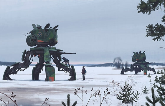 Sci-Fi Paintings by Simon Stalenhag