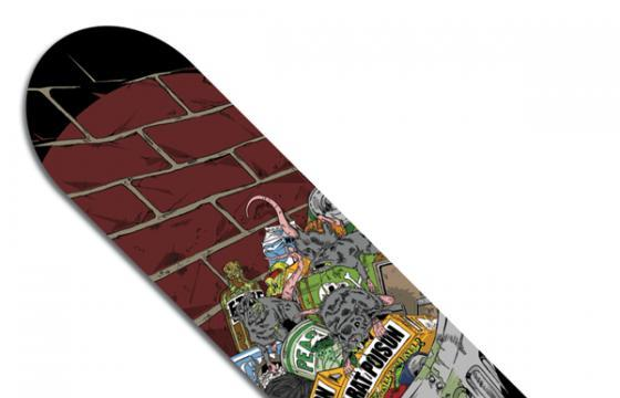 ETHER (Skate All Cities - Skateboard Deck)