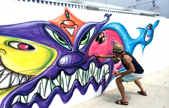 Kenny Scharf: Playland Motel Mural @ Rockaway Beach, NYC