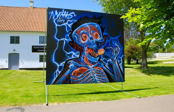 Nychos @ Viborg International Billboard Painting Festival, Denmark