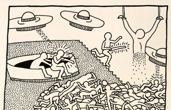 Keith Haring: The Blueprint Drawings @ Pace Prints, NYC