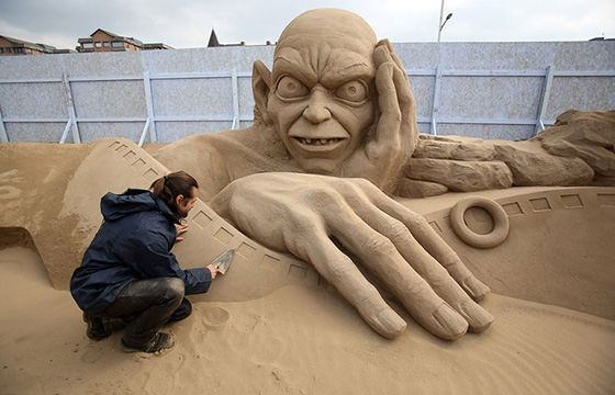 Sand Sculpture Festival in North Somerset, England
