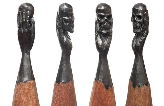 Pencil Carvings by Salavat Fidai