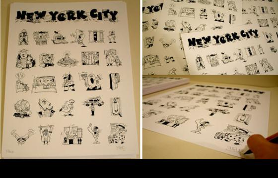New York City Alphabet Poster by Curve