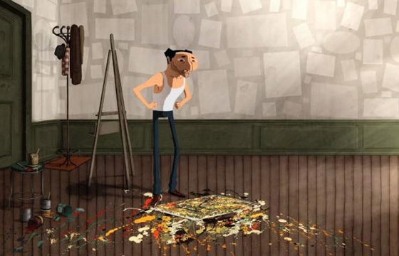 An Animated Homage to Jackson Pollock