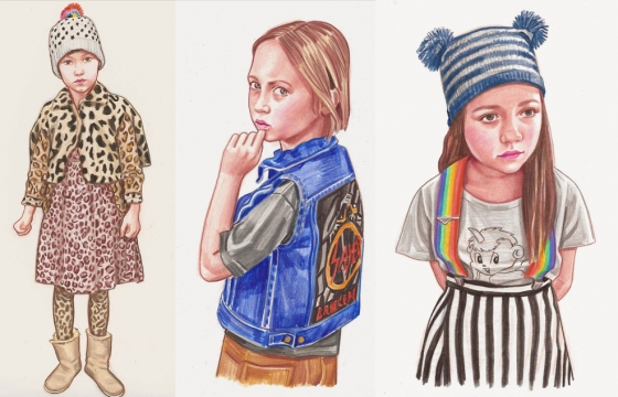 Artist Illustrates Her Daughter's Fashion Choices