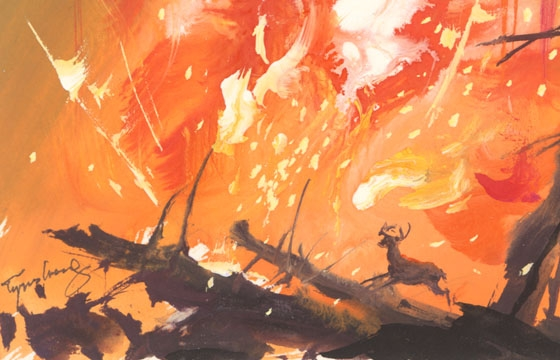 "Tyrus Wong ""Water to Paper, Paint to Sky"" @ Disney Family Museum, SF"