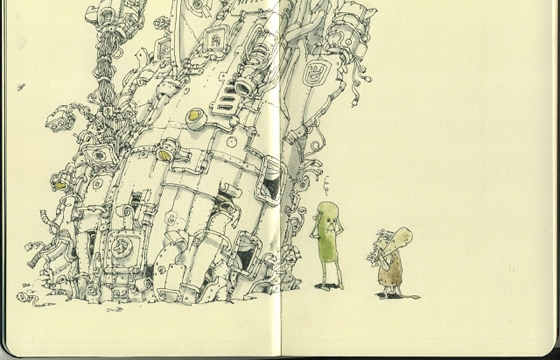 New Sketchbook Illustrations From Mattias Adolfsson