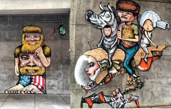 David Choe paints in Denver