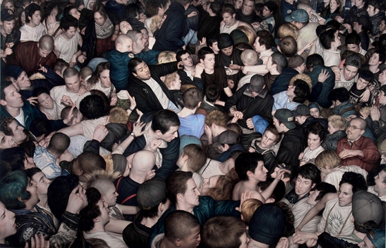 Dan Witz's Mosh Pit Paintings
