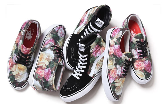 "Supreme x Vans incorporate Peter Saville's classic New Order ""Power, Corruption & Lies"" Artwork"