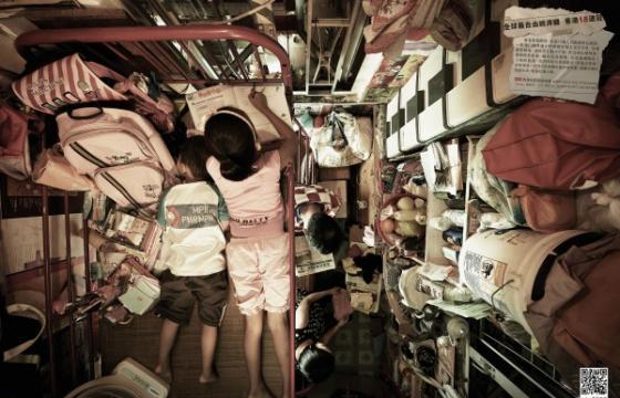 Photographs of Cubicle-Sized Apartment in Hong Kong