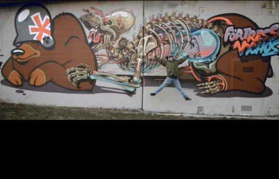 Nychos x Flying Fortress Wall & Video