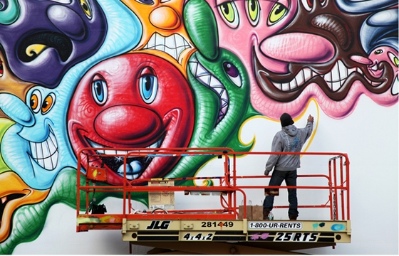 Kenny Scharf arrested, googled, and asked for autograph