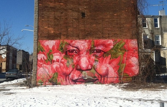 Nelson Mandela memorial by Gaia in Baltimore
