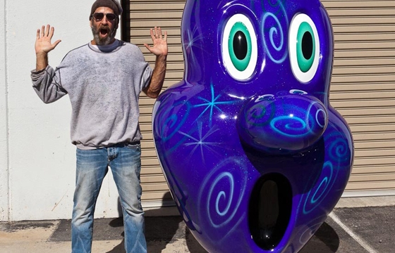 "Kenny Scharf ""Squirtz"" Sculpture @ The Standard"