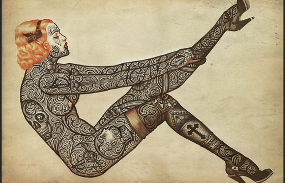Tattooed Vintage Illustrations by Ramon Maiden