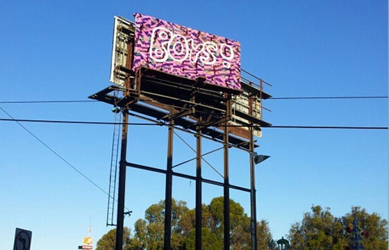 Olek's crocheted Billboard in Oakland