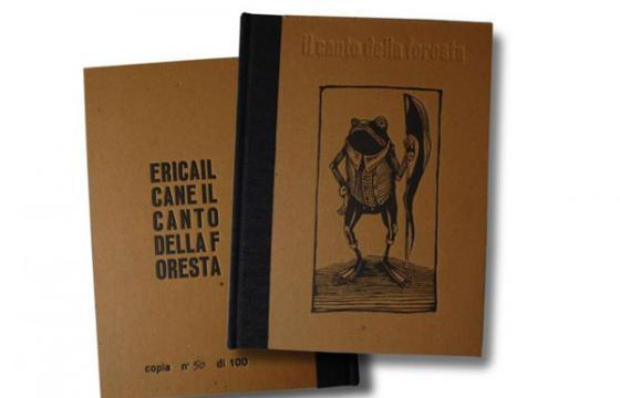 "Ericailcane ""IL CANTO DELLA FORESTA"" Book and Etching"