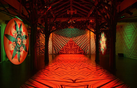 "Watch: ""Zigzagging"" Pattern and RGB Light Installation by Carnovsky"