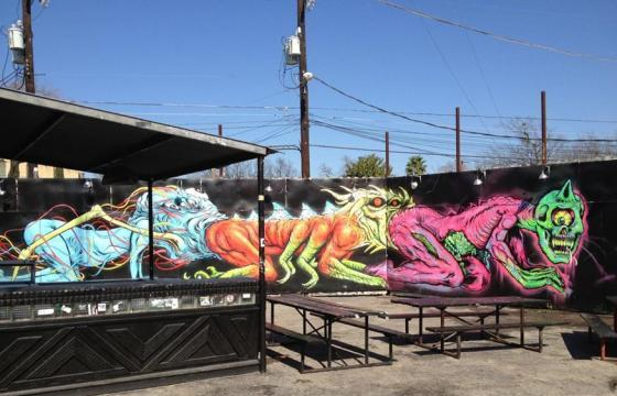 New mural from Alex Pardee, Skinner, and L'amour Supreme