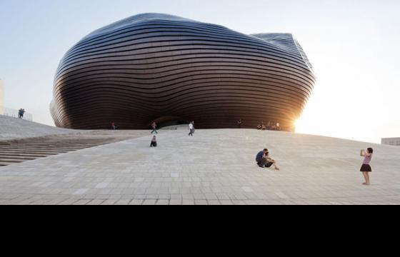 The Ordos Museum in Mongolian Desert