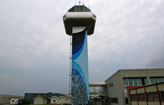 Nuart 2013: M-City Paints the Control Tower of Stavanger (SOLA) International Airport