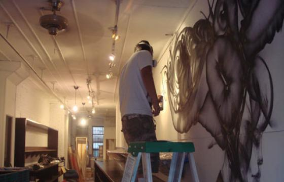Photos: David Choe Paints UPNYC