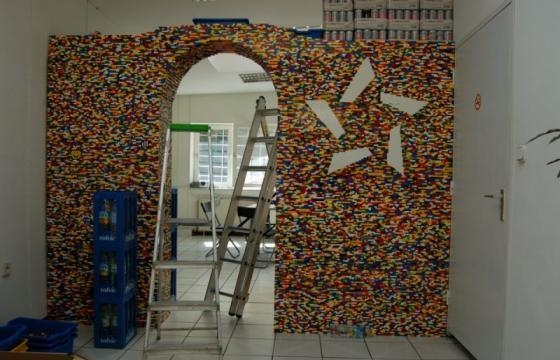 9-Foot LEGO Wall to Divide An Office