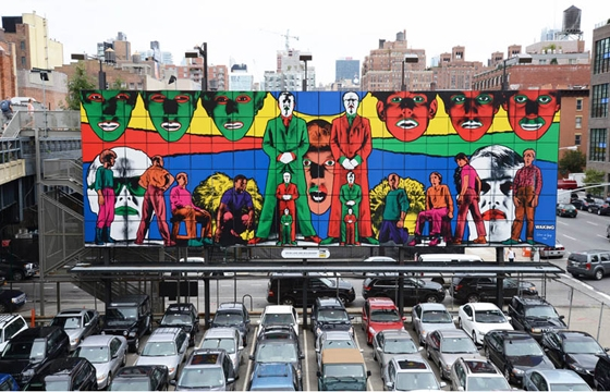 Gilbert & George's High line Billboard