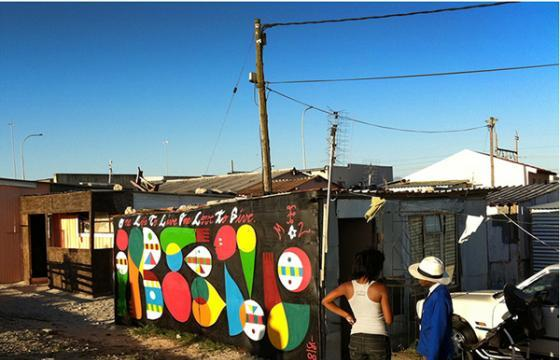 Remed paints in Khayelitsha, South Africa