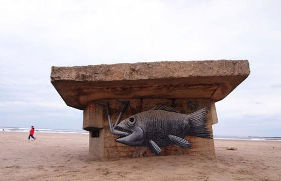 New Phlegm work in Cayton Bay, Scarborough