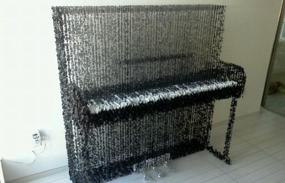 Piano Made of Buttons by Augusto Esquivel
