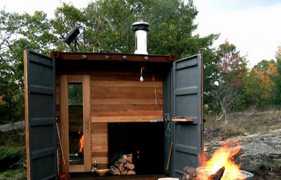 Shipping Container Sauna