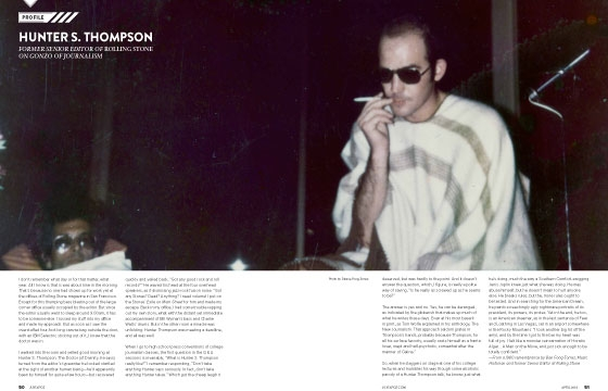 Hunter S. Thompson, April 2013