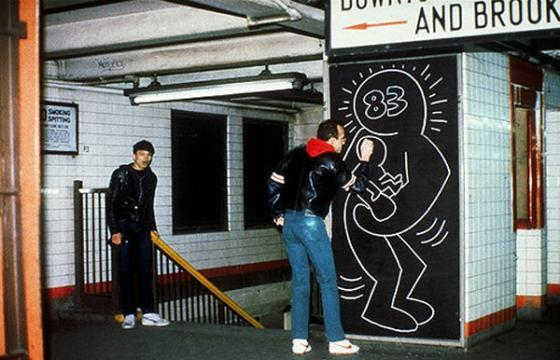 Keith Haring Subways Drawings