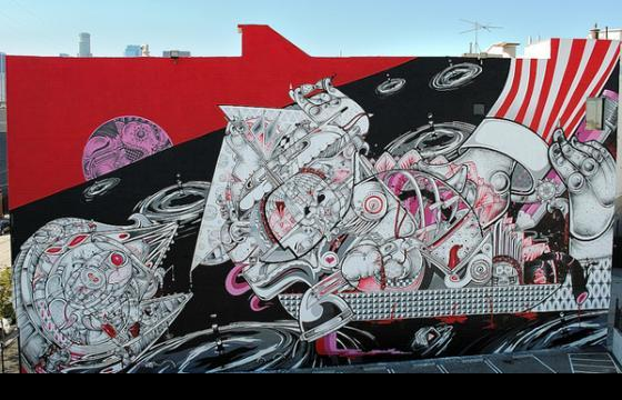 "How and Nosm ""Heartship"" Mural"