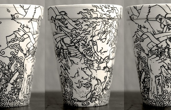 Styrofoam Cup Illustrations by Cheeming Boey