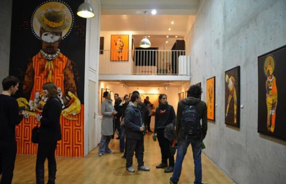 Opening Photos from Inti's Exhibition at Itinerrance Gallery