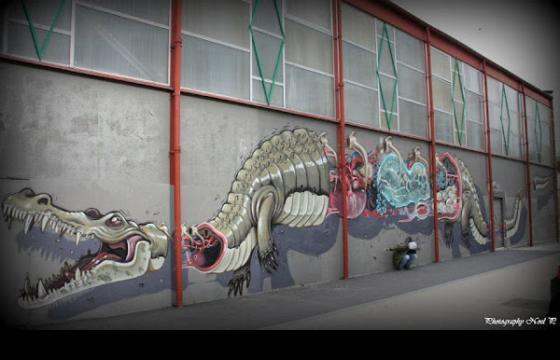Sectioned Crocodile by Nychos
