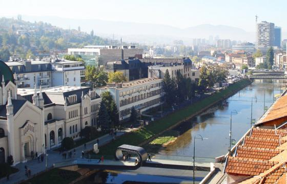 The Looping Bridge in Sarajevo