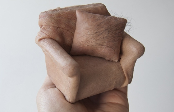 'Handheld,' disturbing skin sculptures by Jessica Harrison
