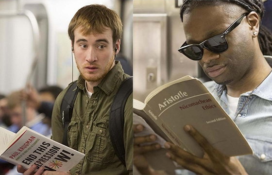 Creeping On Readers In the Subway